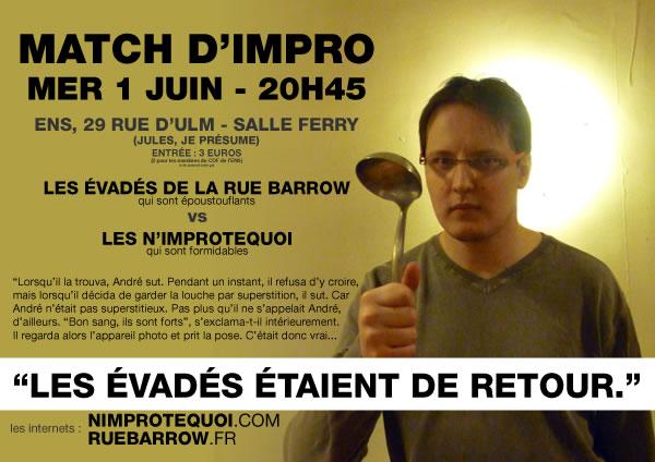 Affiche du match d'improvisation du 1er juin 2011