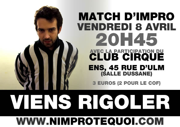 Affiche du match d'improvisation du 8 avril 2011