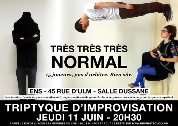 Affiche du triptyque d'improvisation des N'Improtequoi le 11 juin 2015