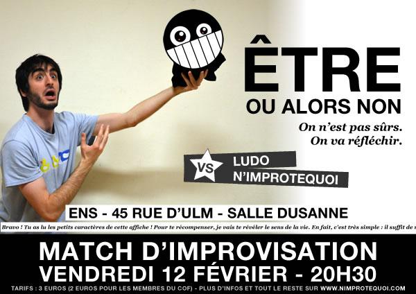 Match d'improvisation LUDO et N'Improtequoi du 12 février 2016