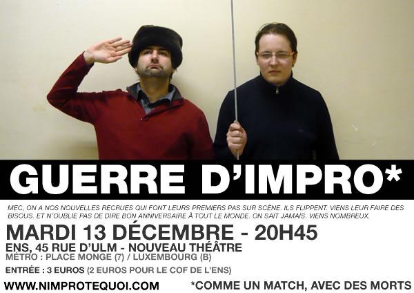 Guerre d'impro du 13 décembre 2011