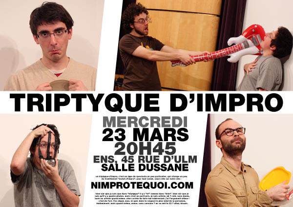Affiche du triptyque d'impro du 23 mars 2011