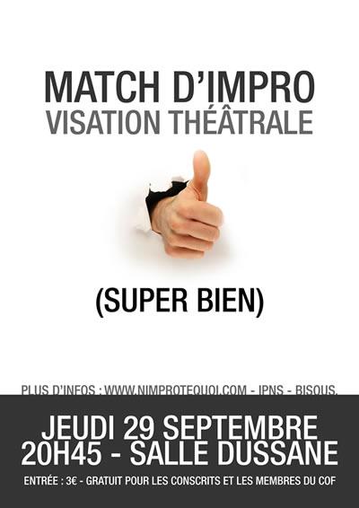 Affiche du match d'impro du 29 septembre 2011