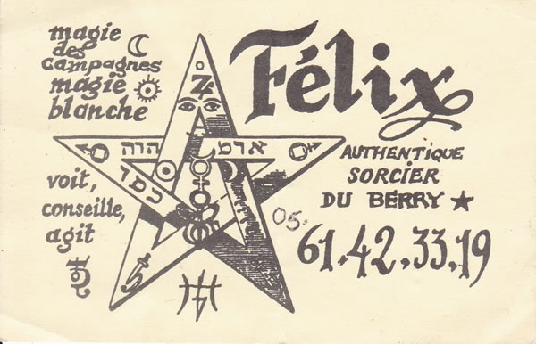 Félix, authentique sorcier du Berry