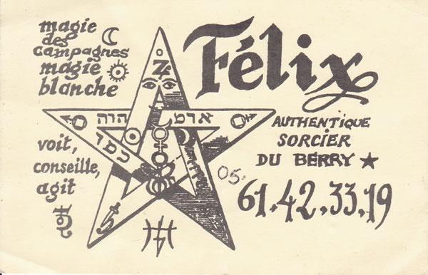 Félix, authentique sorcier du Berry