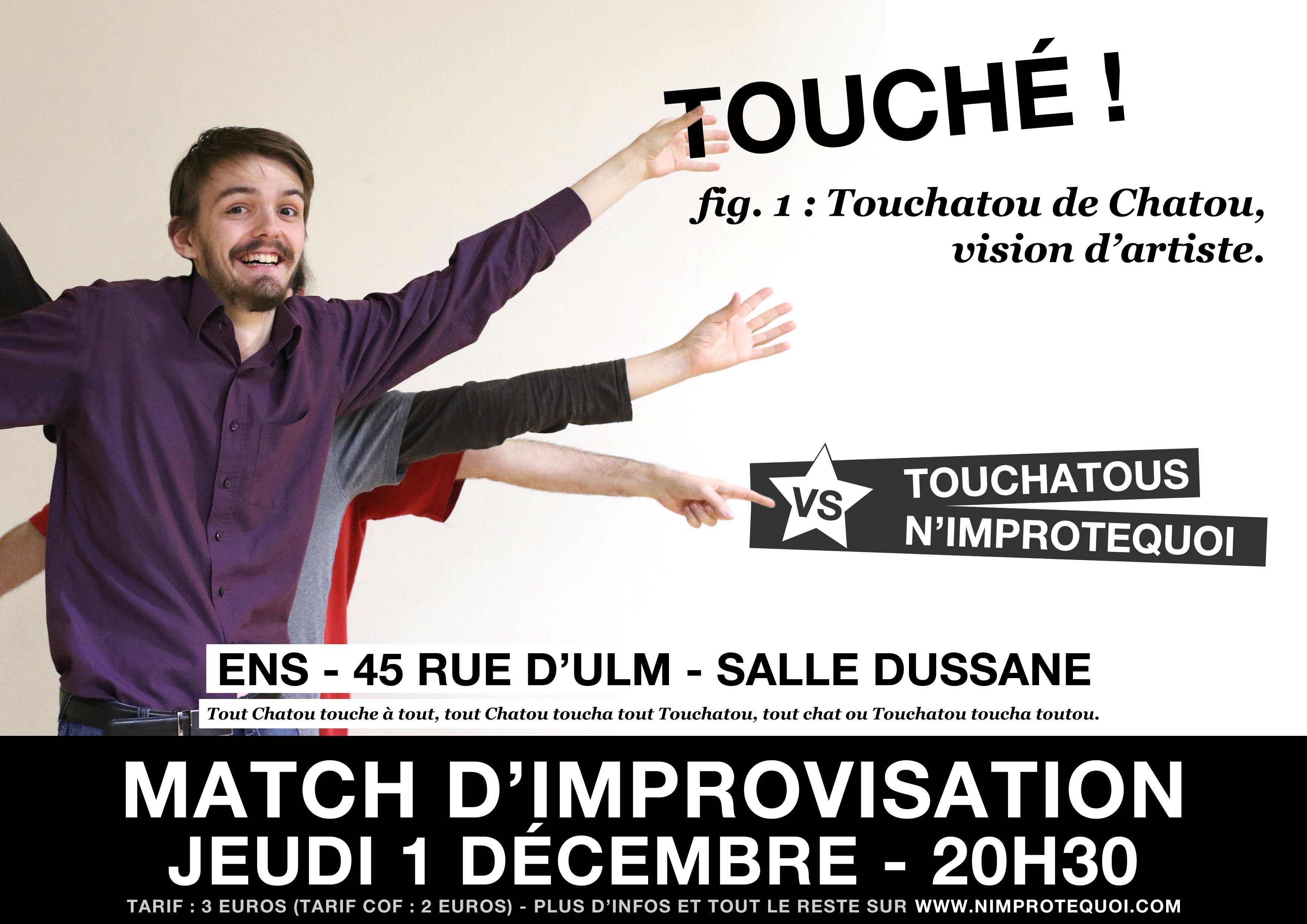 5199e8aab4868 affiche du match d improvisation touchatous n improtequoi