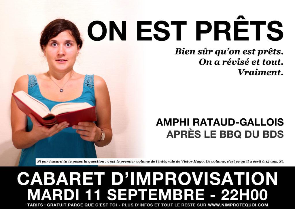 cabaret d'improvisation du mardi 11 septembre 2018 - n'improtequoi