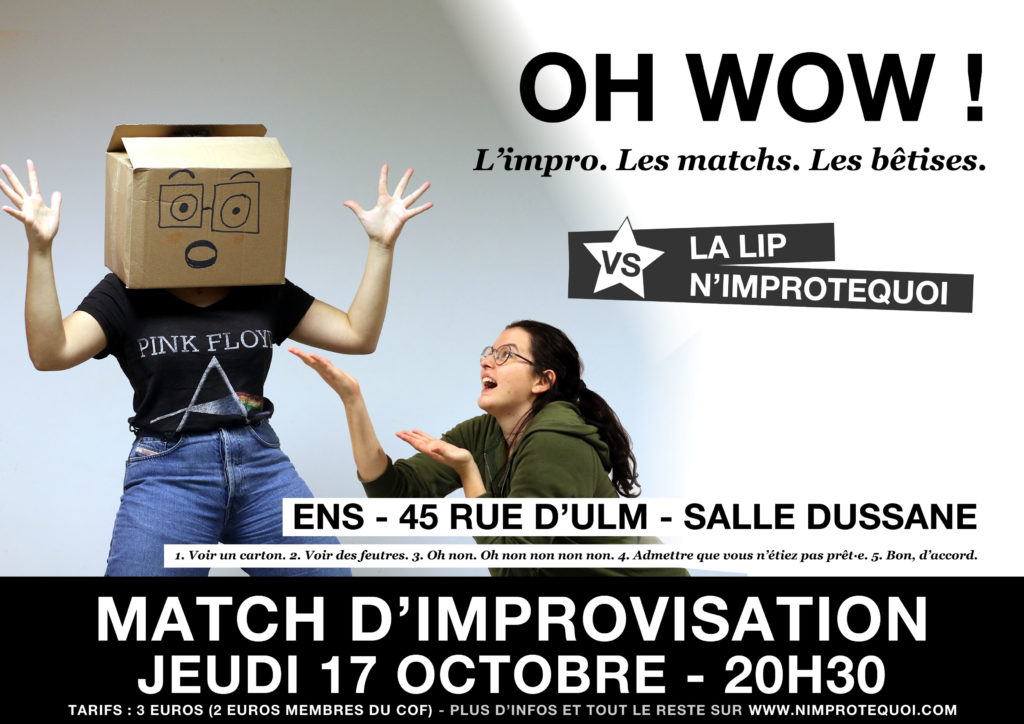 match d'improvisation LIP n'improtequoi 17 octobre 2019