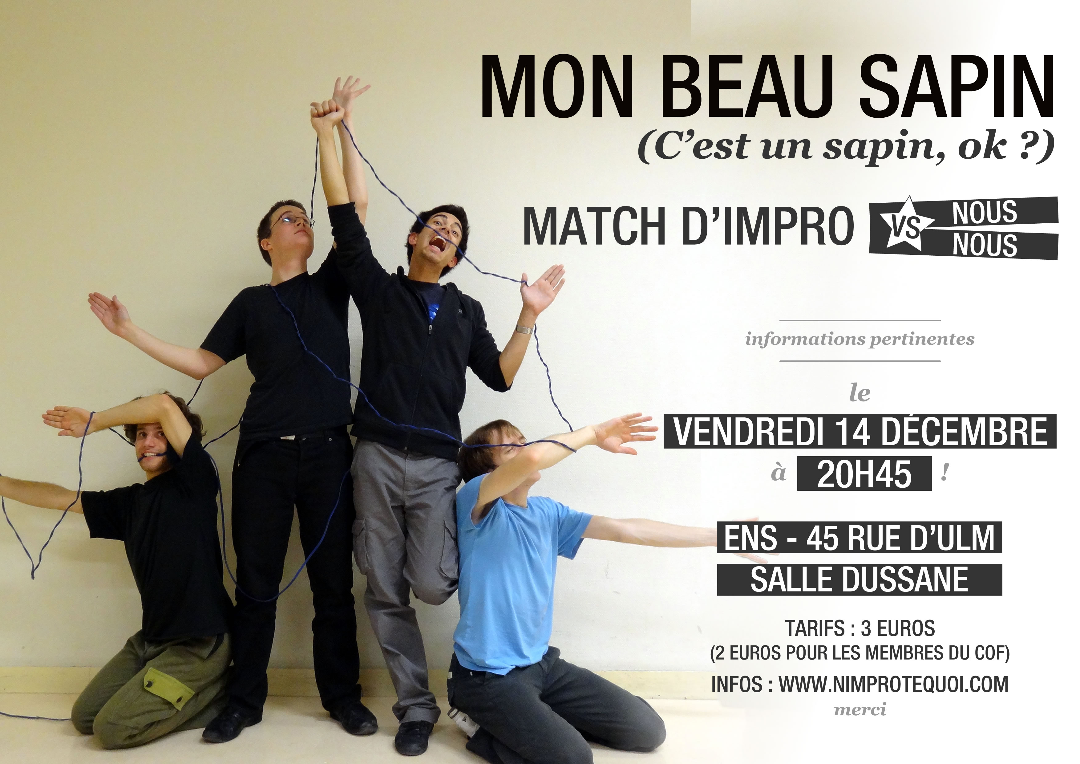 fcfc2026a6c Affiche du match d improvisation de Noël 2012
